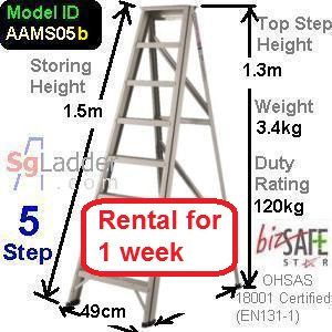 A-Frame 05-Step Ladder  rent for 1 week