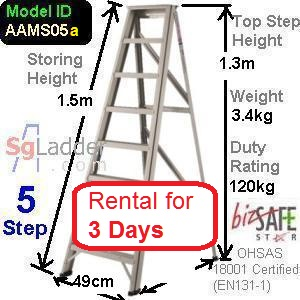 A-Frame 05-Step Ladder rent for 3 days