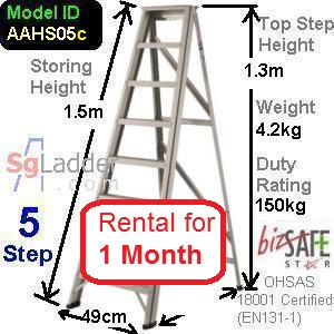 A-Frame 05-Step Ladder (Hvy Duty) rent 1 month