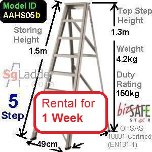 A-Frame 05-Step Ladder (Hvy Duty) rent 1 Week