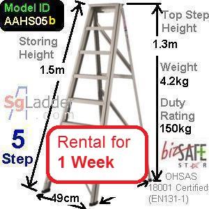 A-Frame 05-Step Ladder (Hvy Duty) rent 1 Week