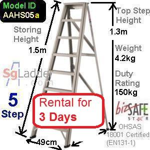 A-Frame 05-Step Ladder (Hvy Duty) rent 3 Days