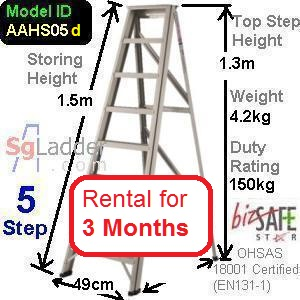 A-Frame 05-Step Ladder (Hvy Duty) rent 3 months