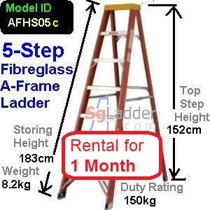 A-Frame 05-Step Fibreglass Ladder Rent 1 Month
