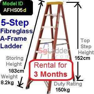 A-Frame 05-Step Fibreglass Ladder Rent 3 Months