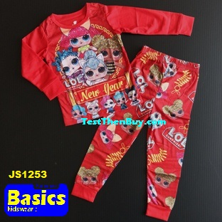 JS1253 Children Pyjamas for Girls Age 3