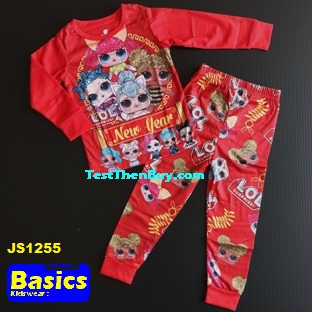 JS1255 Children Pyjamas for Girls Age 5