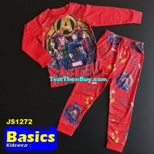 JS1272 Children Pyjamas for Boys Age 2