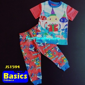 JS1594 Children Pyjamas for Boys Age 4