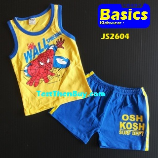 JS2604 Kids sleeveless sets for Boy Age 4
