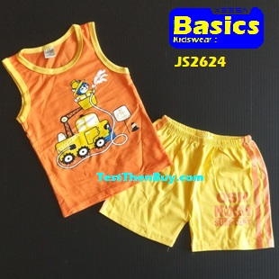 JS2624 Kids sleeveless sets for Boy Age 4