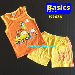 JS2626 Kids sleeveless sets for Boy Age 6