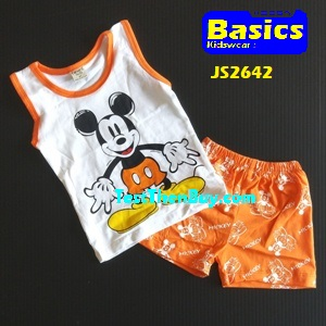 JS2642 Kids sleeveless sets for Age 2