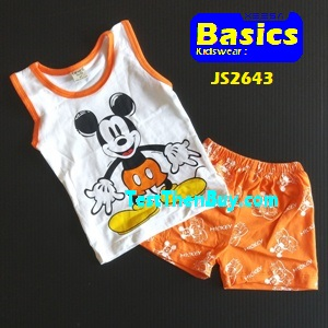 JS2643 Kids sleeveless sets for Age 3