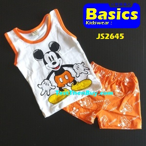 JS2645 Kids sleeveless sets for Boy Age 5