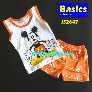 JS2647 Kids sleeveless sets for Boy Age 7