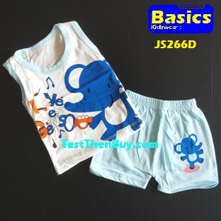 JS266D Kids sleeveless sets for Age 1