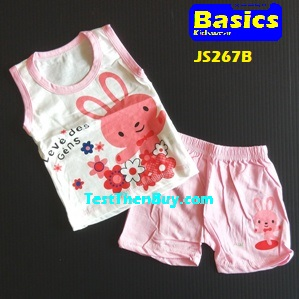 JS267C Kids sleeveless sets for Age 9 months