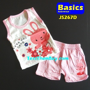 JS267D Kids sleeveless sets for Age 1