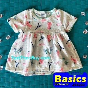 JS6223 Baby Dress for Girls Age 3