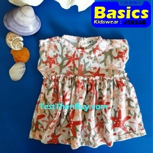 JS624B Baby Dress for Girls Age 6 months old