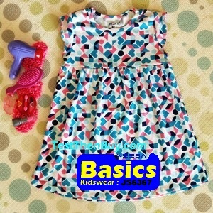 JS6367 Children Dress for Girls Age 7