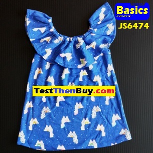 JS6474 Dress for Girls Age 4