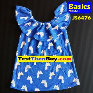 JS6476 Dress for Girls Age 6