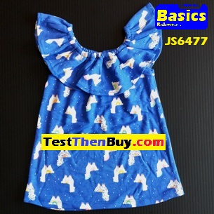JS6477 Dress for Girls Age 7