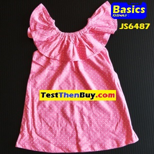 JS6487 Dress for Girls Age 7