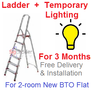 Rent Ladder and Lights for 3 Mths for 2-rm Flat
