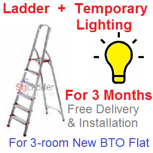 Rent Ladder and Lights for 3 Mths for 3-rm Flat