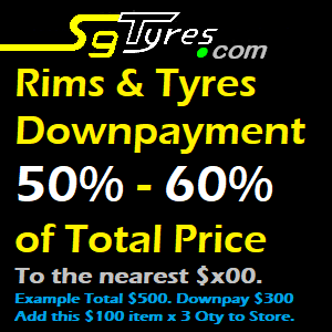 SgTyres Downpayment for Rims and Tyres