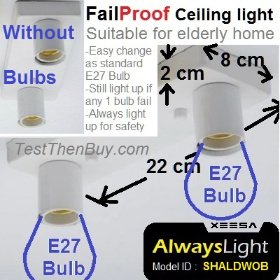 AlwaysLight Fail-Proof Ceiling Light Duo