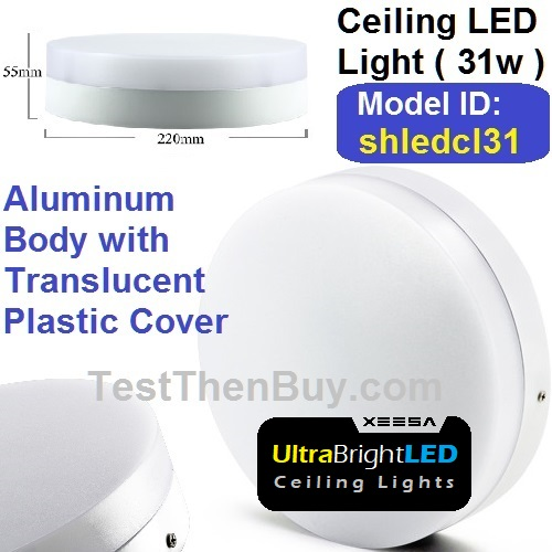 Cool White LED Ceiling Light 31 Watt
