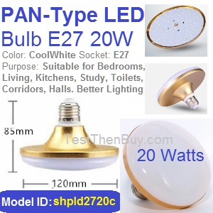 Pan-Type LED Bulb E27 20W