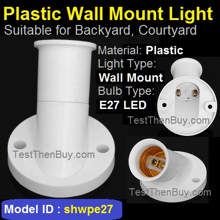 Plastic Wall Mount Light