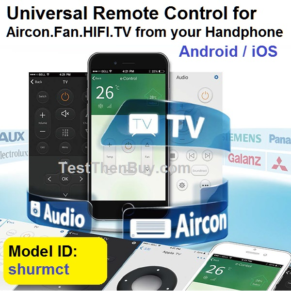 Smartphone Remote Control for Aircon Lights