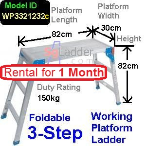 Working Platform Ladder 3Steps Rent 1 Month