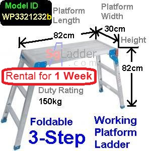 Working Platform Ladder 3Steps Rent 1 Week