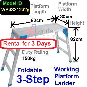Working Platform Ladder 3Steps Rent 3 Days