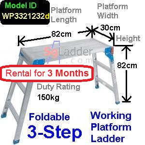 Working Platform Ladder 3Steps Rent 3 Months