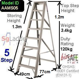 A-Frame 05-Step Aluminum Ladder (Medium Duty)