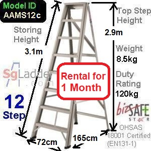 A-Frame 12-Step Ladder (Mid Duty) rent 1 month