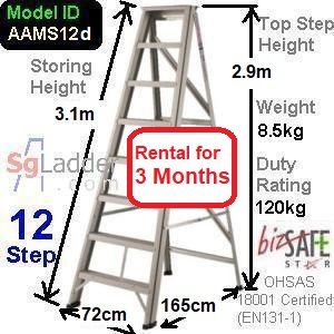 A-Frame 12-Step Ladder (Mid Duty) rent 3 months