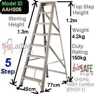 A-Frame 05-Step Aluminum Ladder (Heavy Duty)