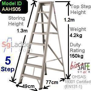 A-Frame 05-Step Aluminum Ladder (Heavy Duty)