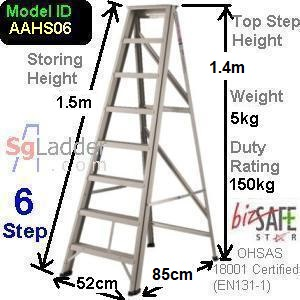 A-Frame 06-Step Aluminum Ladder (Heavy Duty)