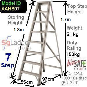 A-Frame 07-Step Aluminum Ladder (Heavy Duty)