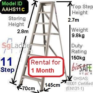 A-Frame 11-Step Ladder (Hvy Duty) rent 1 month